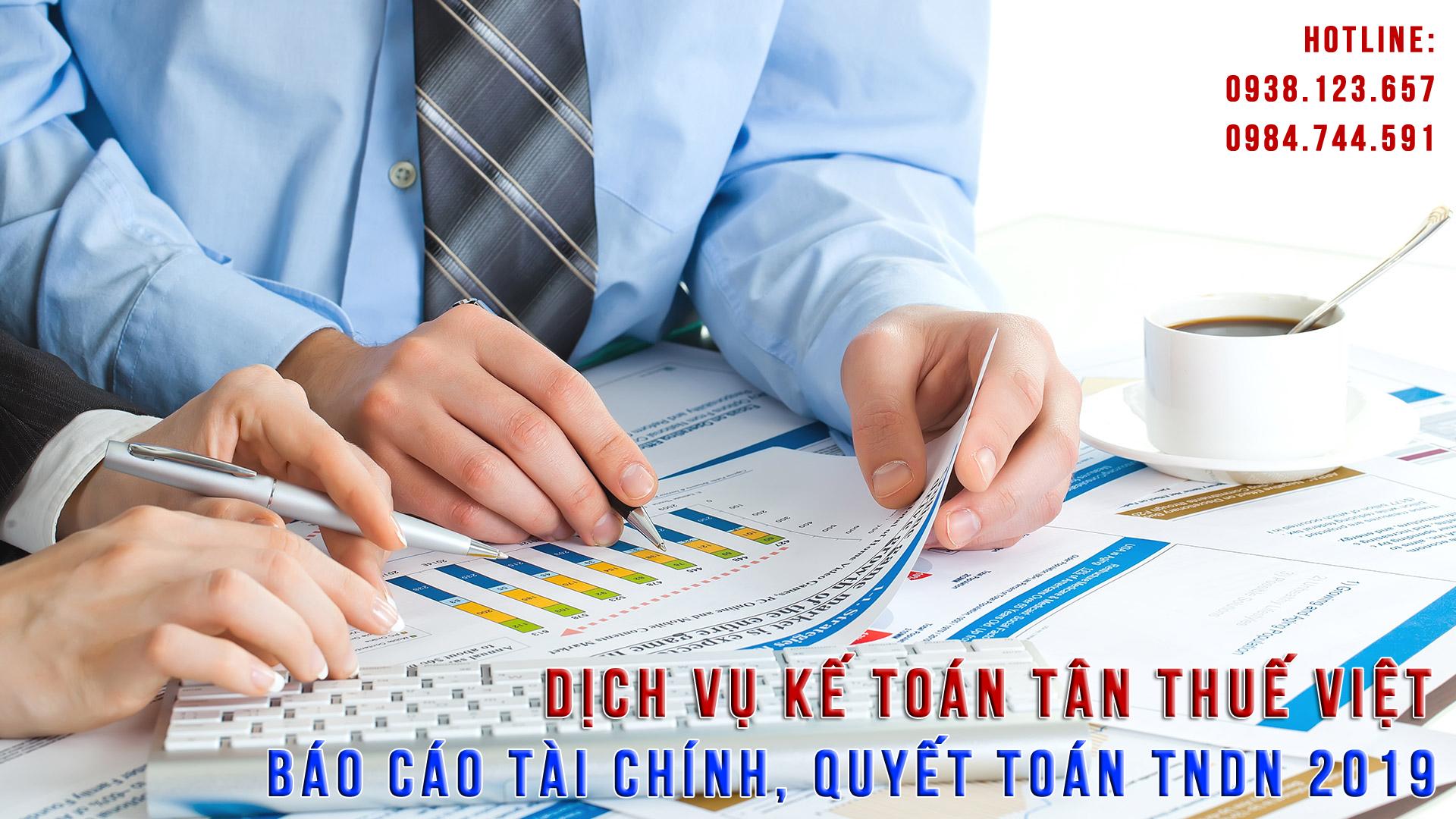 Báo cáo tài chính, báo cáo thuế cuối năm 2019